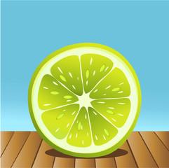 Summer lime fruit