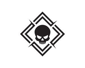 Skull Logo Template Design Vector, Emblem, Design Concept, Creative Symbol, Icon