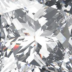 3D illustration closeup crop diamond texture macro zoom