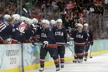 OLYMPICS: FEB 24  Men's Ice Hockey USA vs Switzerland