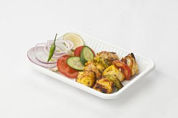 grilled  Paneer tikka kebab with fresh salad