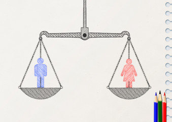 男女格差のない平等なイメージ