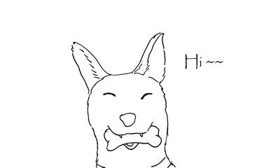 Hand Drawn of dog sketch.