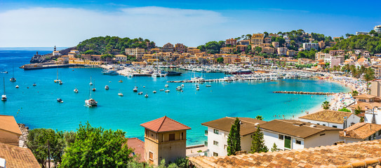 Papiers peints Lieu d Europe Spanien Mittelmeer Küste Bucht von Port de Soller Mallorca