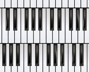 Piano Keyboard Seamless.