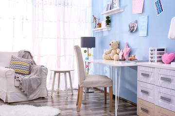 Comfortable baby room interior