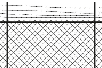Fence. Vector.