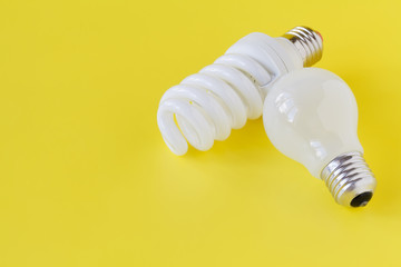 Innovative and plain old light bulb