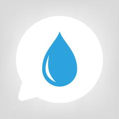 Kreis Sprechblase - Wassertropfen blau