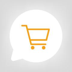 Kreis Sprechblase - Einkaufswagen orange