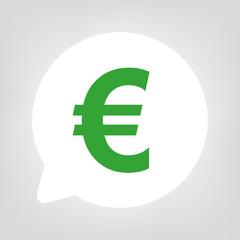 Kreis Sprechblase - Euro Währung grün