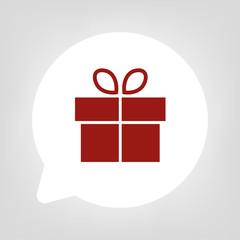 Kreis Sprechblase - Geschenk mit Schleife