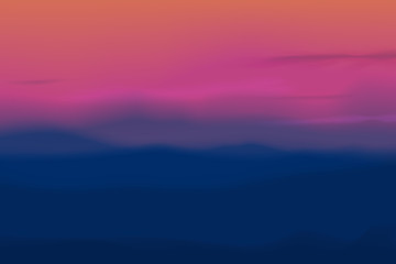 Rainbow colors, blue and pink landscape, nature twilight scenery