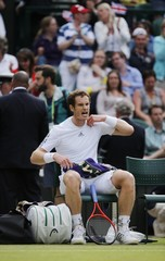 Men's Singles - Great Britain's Andy Murray during his quarter final match