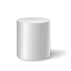 White cylinder isolated on white background. vector