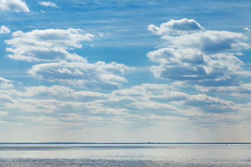 Sea and sky with clouds