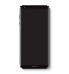 Black Mobile Phone Top View