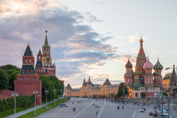 Red Square at sunset, Russia