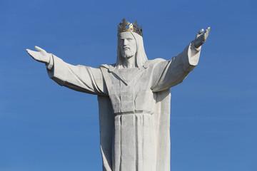Swiebodzin, Poland on October 3, 2015. Jesus Christ monument.