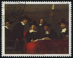 Sampling Officials of the Draper's Guild by Rembrant