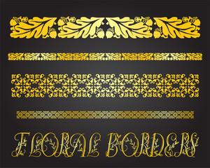 Floral and vintage border ornaments
