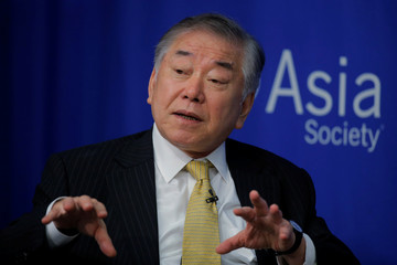 "Professor Chung-in Moon speaks on a ""Crisis on the Peninsula: Implications for the U.S. - Korea Alliance"" panel at the Asia Society in New York"