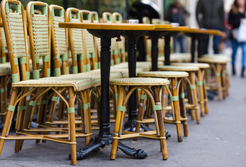 Traditional street cafe in Paris, France