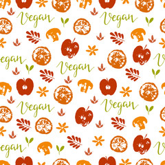 Vegan seamless pattern