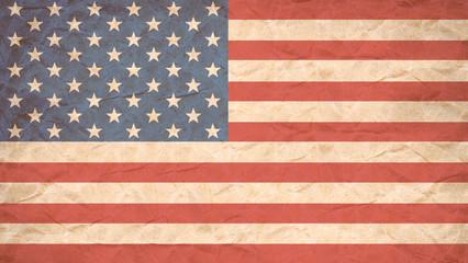 USA flag print on Grunge Poster Paper.