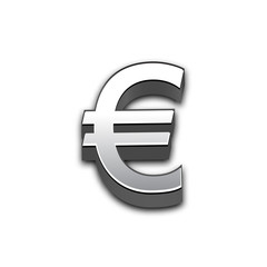 Euro 3d sign illustration isolated.