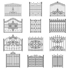 Iron gate line art set