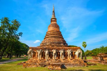 Wat Sorasak Temple at Sukhothai Historical Park, a UNESCO World Heritage Site in Thailand