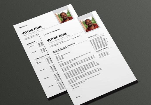 Modèle de CV et lettre de motivation- Moderne