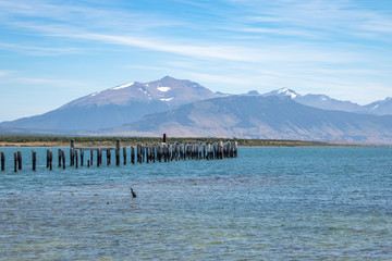 Old Dock in Almirante Montt Gulf in Patagonia - Puerto Natales, Magallanes Region, Chile