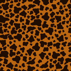 Vector illustration. An image of the texture of animal skins, cheetah. Dark spots on a light background