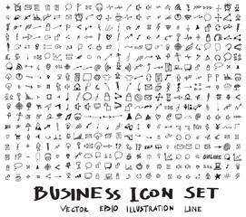 Business doodles sketch vector ink eps10