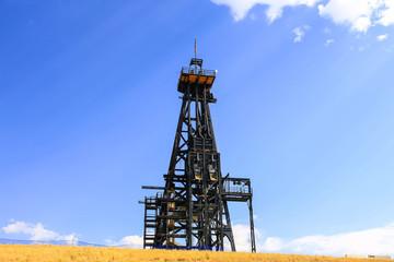 The deep copper mine winding gear site in Butte Montana, USA
