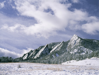 Winter on the Boulder Flatirons in the Chautauqua Meadow