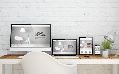 multidevice desktop interior design