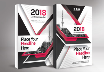 Book Cover Layout Set 80