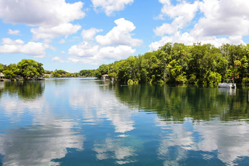 Homosassa River in Central W. Florida, USA