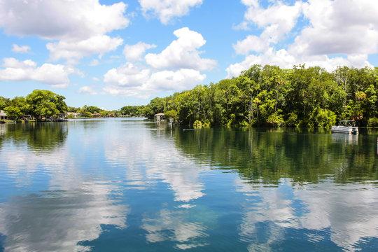 Homosassa River in Central W. Florida, USA