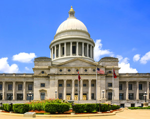 The Arkansas State Capitol building located in Little Rock, AR, USA