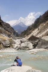 Landscape from Nepal Everest Base Camp