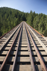 Goldstream Trestle railway bridge in Goldstream Provincial Park
