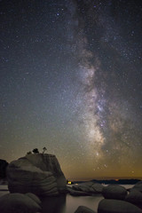 Summer milky way over Bonsai Rock, Lake Tahoe