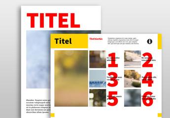 Zeitgemäßes Layout für digitale Zeitschriften