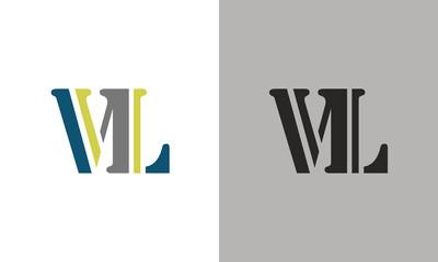 letter VL logo