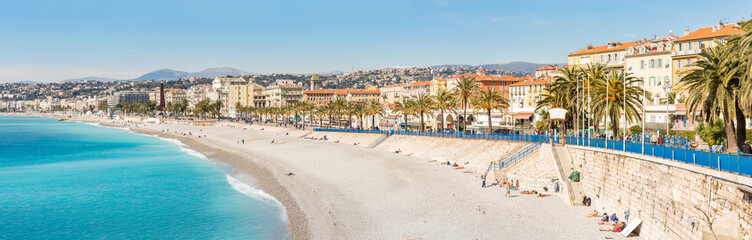 Photo sur Plexiglas Nice France Nice Mediterranean beach