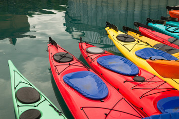 Kayaks in Multiple Color Float Marine Harbor